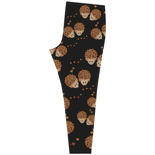 Hedgehogs in autumn Cassandra Women's Leggings (Model L01)