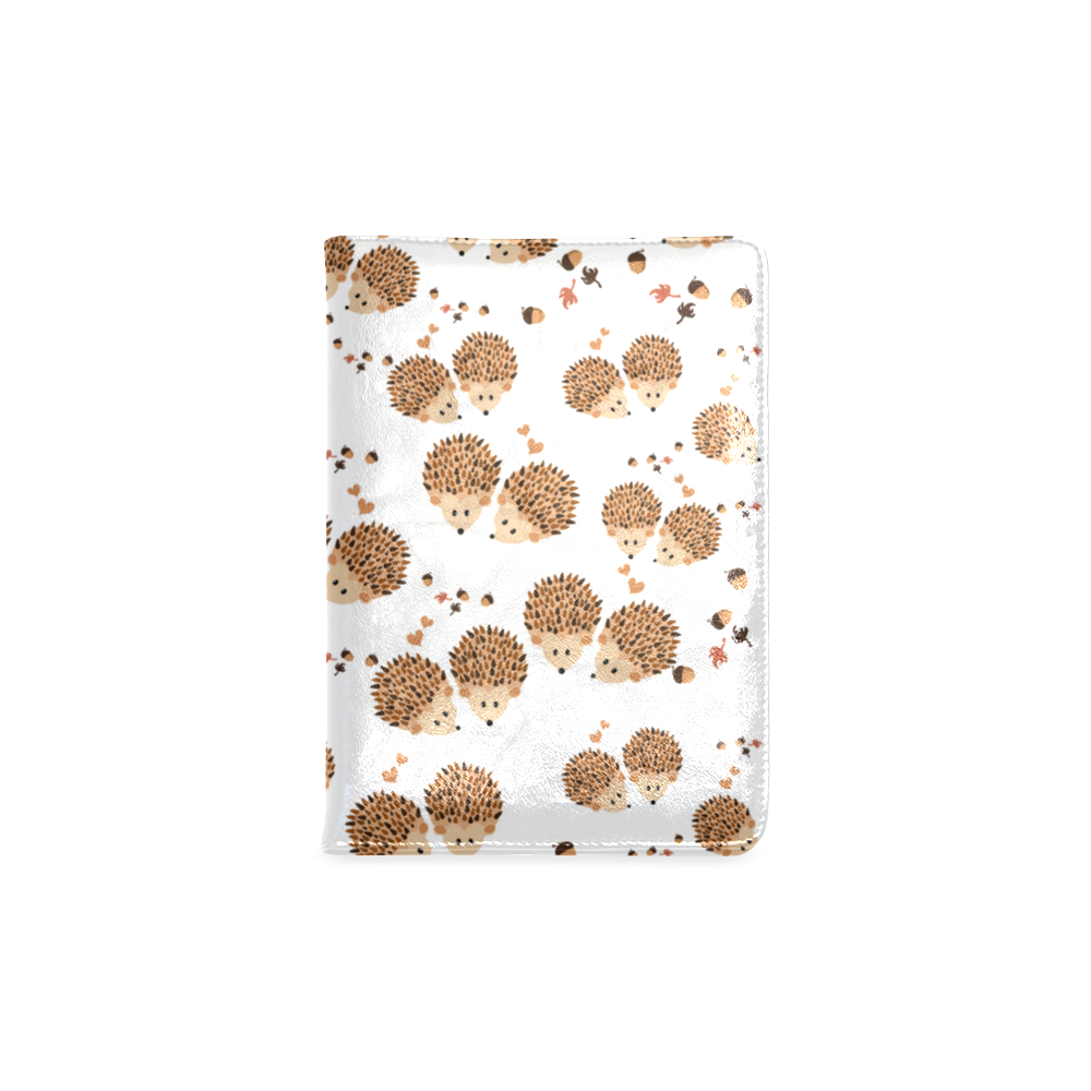 Hedgehogs in autumn Custom NoteBook A5