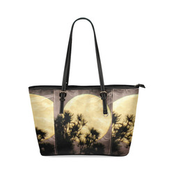 Moonsmoke by Martina Webster Leather Tote Bag/Small (Model 1640)