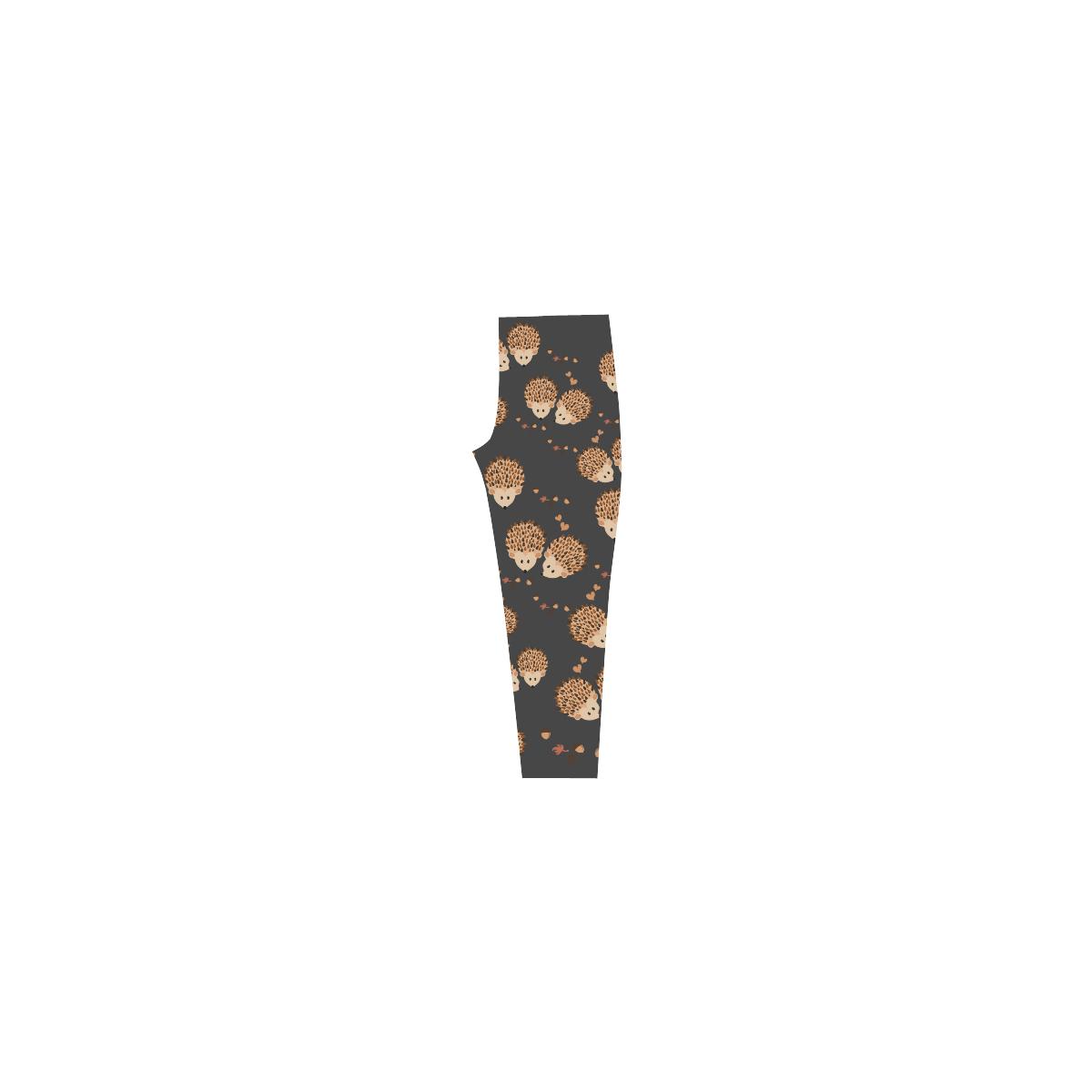 Hedgehogs in autumn Capri Legging (Model L02)