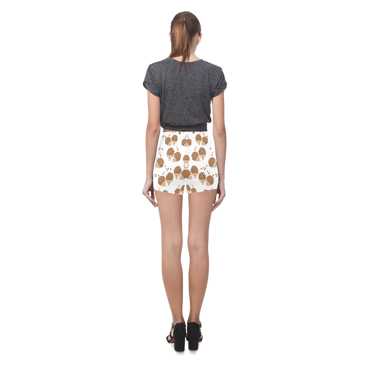 Hedgehogs in autumn Briseis Skinny Shorts (Model L04)