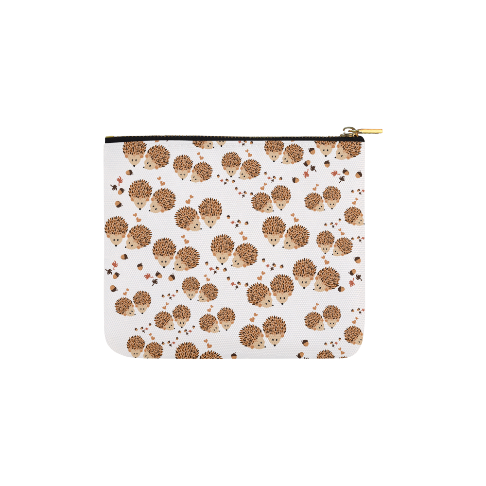 Hedgehogs in autumn Carry-All Pouch 6''x5''