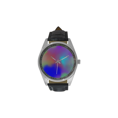 SPACE DUST Men's Casual Leather Strap Watch(Model 211)