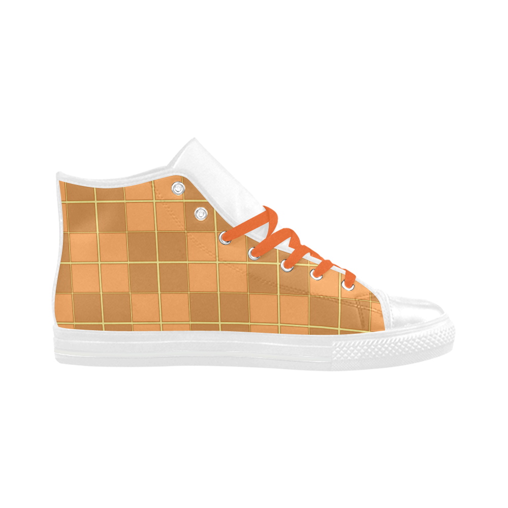 Natural Mosaic Aquila High Top Microfiber Leather Women's Shoes (Model 032)