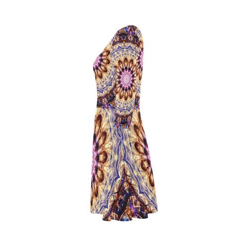 Dreamy Mandala 3/4 Sleeve Sundress (D23)