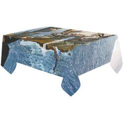 """steampunk dragon ocean library Cotton Linen Tablecloth 60""""x120"""""""