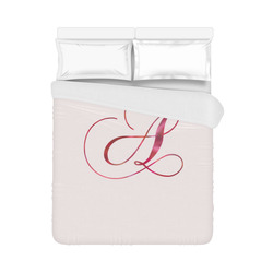 """Letter A Pink Red - Jera Nour Duvet Cover 86""""x70"""" ( All-over-print)"""