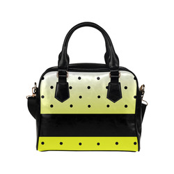 polka yellow Shoulder Handbag (Model 1634)
