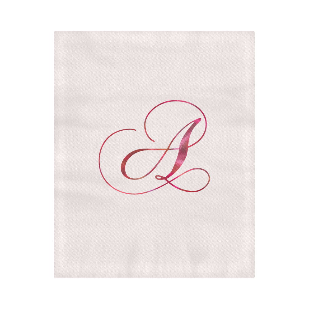 "Letter A Pink Red - Jera Nour Duvet Cover 86""x70"" ( All-over-print)"