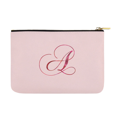 Letter A Pink Red - Jera Nour Carry-All Pouch 12.5''x8.5''