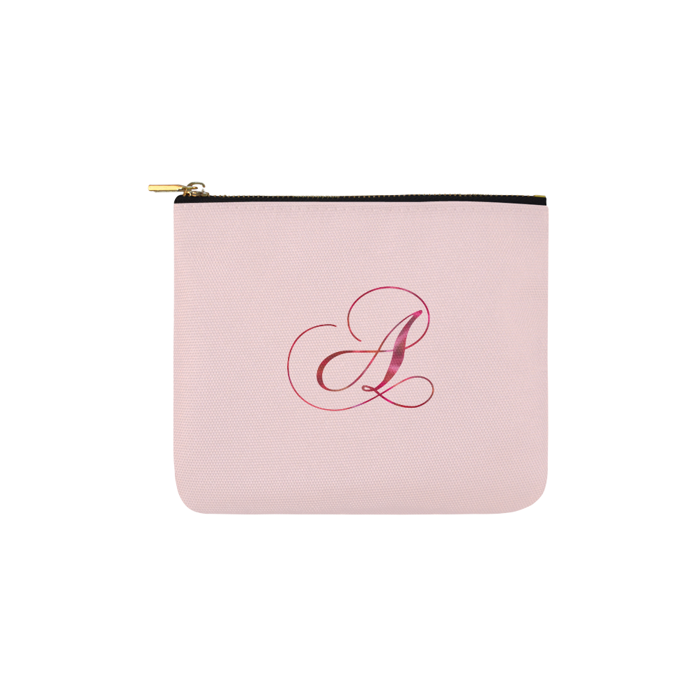 Letter A Pink Red - Jera Nour Carry-All Pouch 6''x5''
