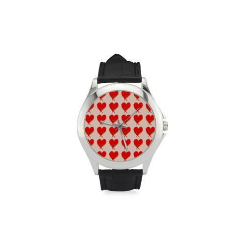 Big Heart Women's Classic Leather Strap Watch(Model 203)