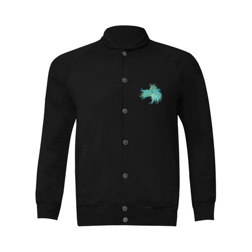 turquoise Men's Baseball jacket (Model H12)