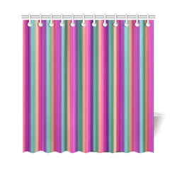 "Bright Pink Stripes Shower Curtain 69""x70"""
