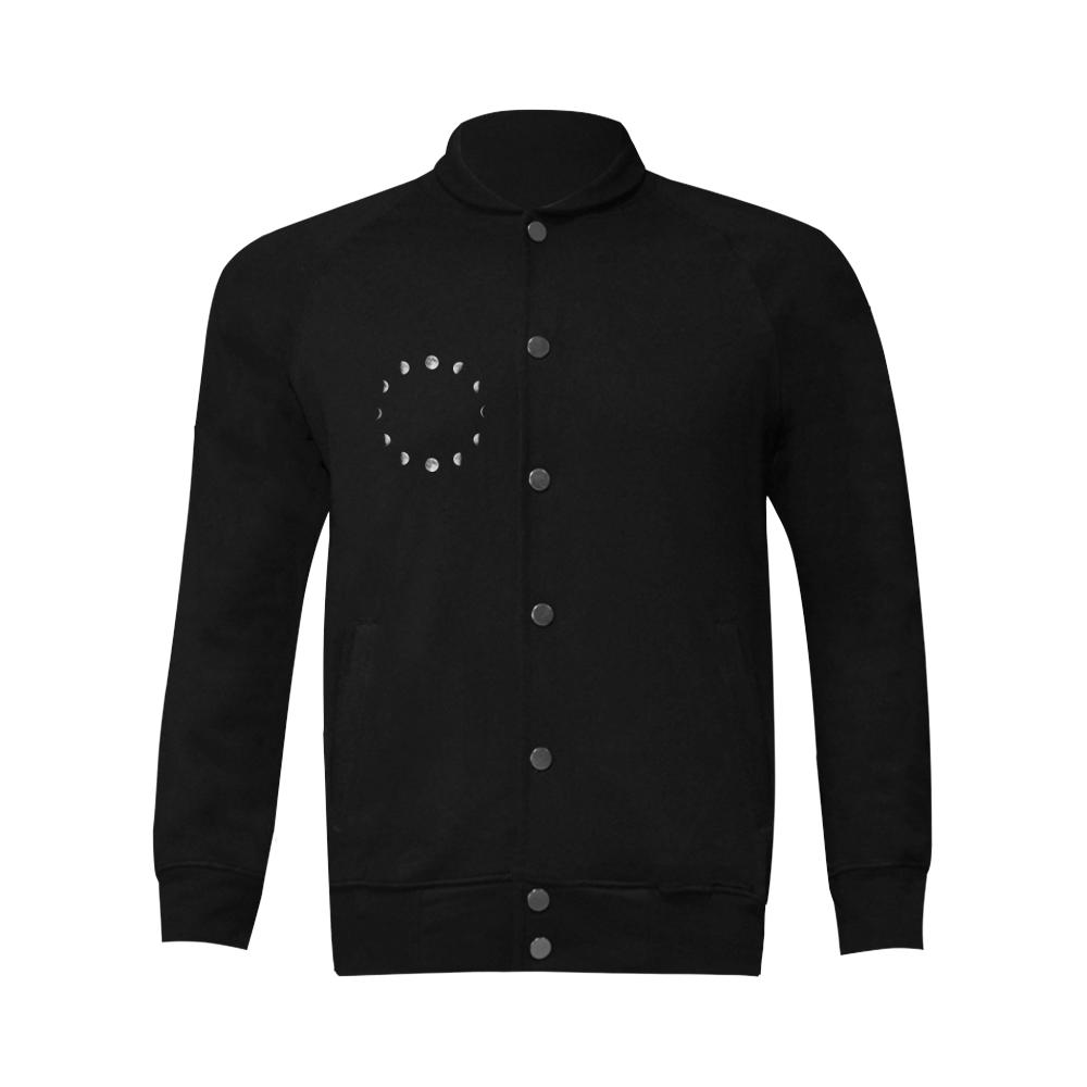 Cool Moon Phases Men's Baseball jacket (Model H12)