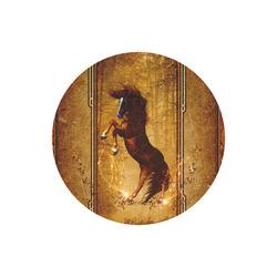 Awesome horse, vintage background Round Mousepad