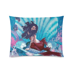 """mermaid in a shell Custom Zippered Pillow Case 20""""x26""""(Twin Sides)"""