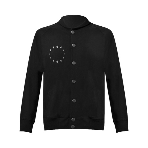 Cool Moon Phases Women's Baseball Jacket (Model H12)