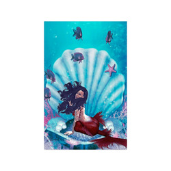"""mermaid in a shell Poster 11""""x17"""""""