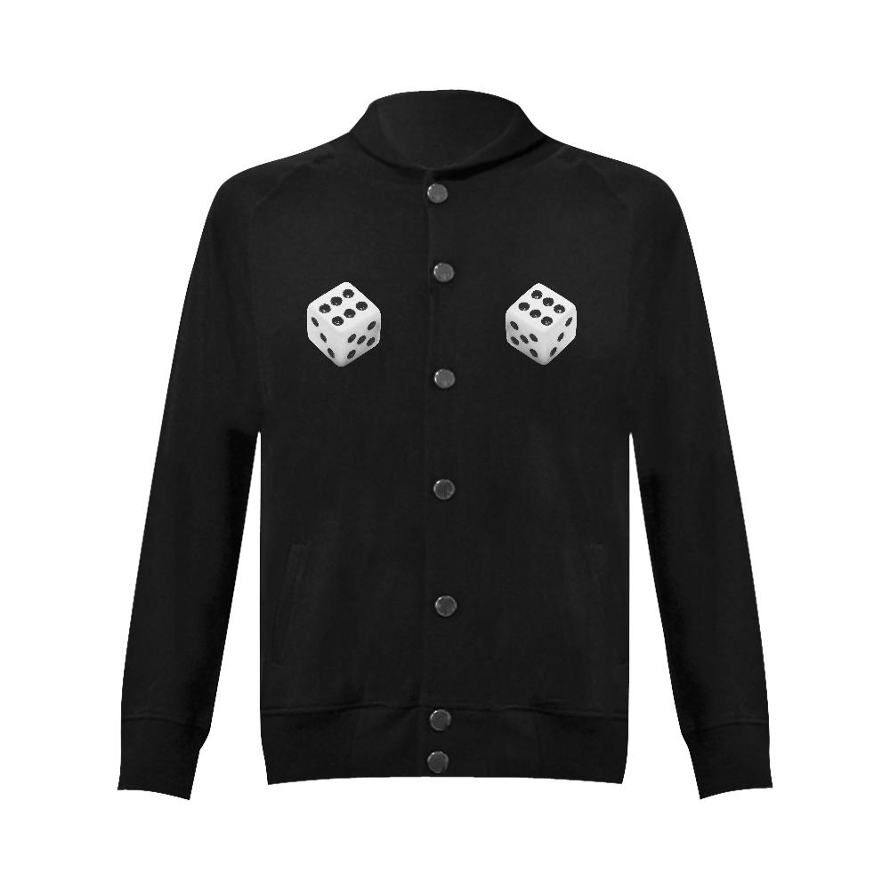Lucky Dice Women's Baseball Jacket (Model H12)