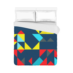 """Shapes on a blue background Duvet Cover 86""""x70"""" ( All-over-print)"""