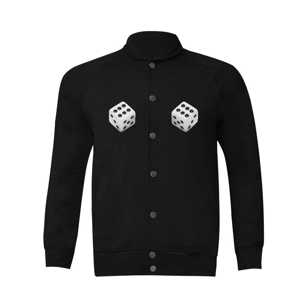 Lucky Dice Men's Baseball jacket (Model H12)