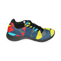 Shapes on a blue background Men's Running Shoes (Model 020)