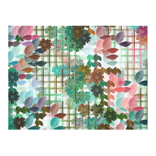 "My Secret Garden #1 Day - Jera Nour Cotton Linen Tablecloth 52""x 70"""