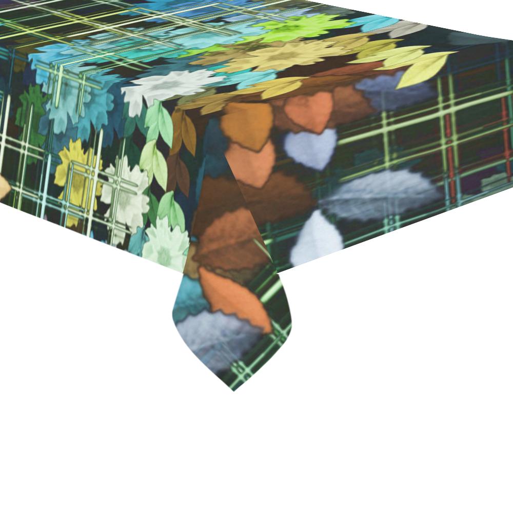 """My Secret Garden #1 Night - Jera Nour Cotton Linen Tablecloth 60""""x 104"""""""