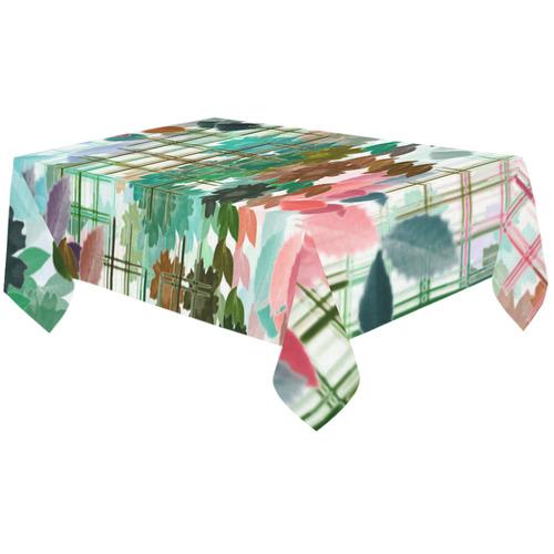 "My Secret Garden #1 Day - Jera Nour Cotton Linen Tablecloth 60""x120"""