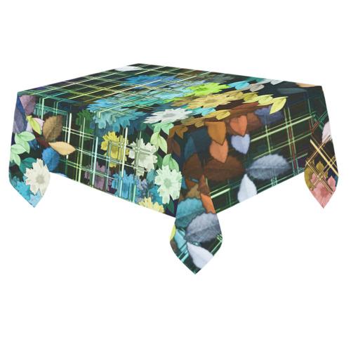 """My Secret Garden #1 Night - Jera Nour Cotton Linen Tablecloth 60""""x 84"""""""