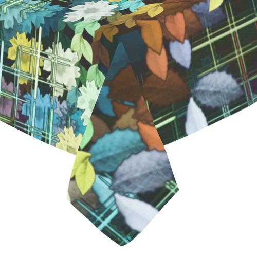 """My Secret Garden #1 Night - Jera Nour Cotton Linen Tablecloth 52""""x 70"""""""