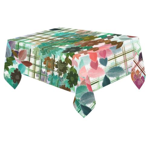 "My Secret Garden #1 Day - Jera Nour Cotton Linen Tablecloth 60""x 84"""
