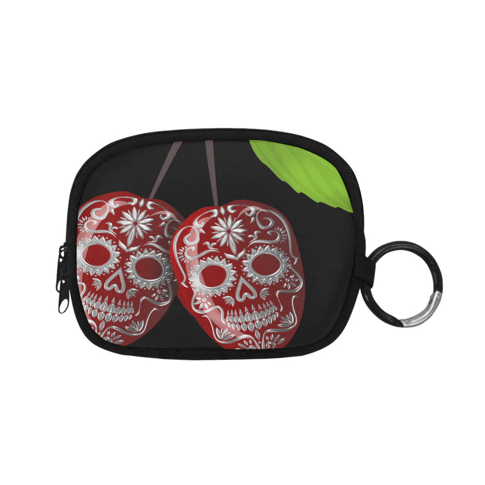 Cherry Sugar Skull Coin Purse (Model 1605)