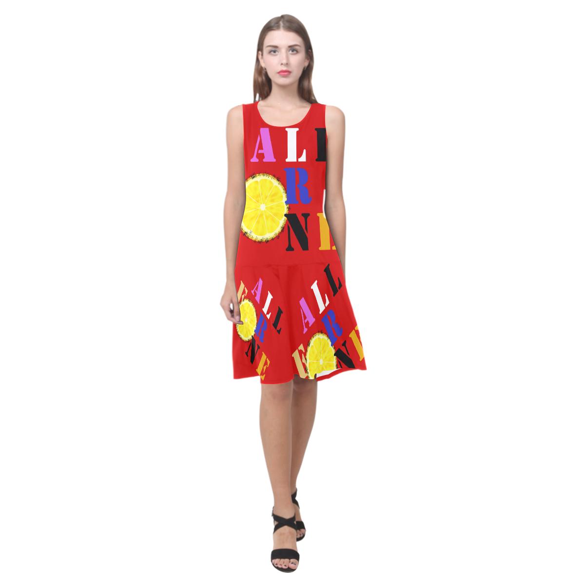 All For One Sleeveless Splicing Shift Dress(Model D17)