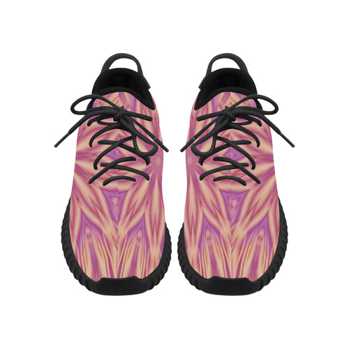 Pink Tiger Stripes Grus Women's Breathable Woven Running Shoes (Model 022)