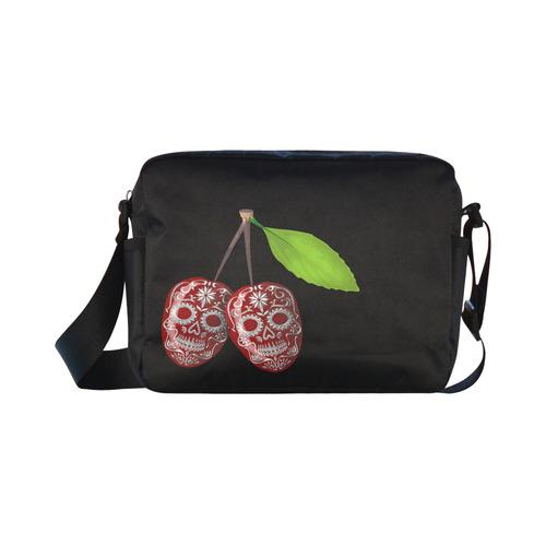 Cherry Sugar Skull Classic Cross-body Nylon Bags (Model 1632)