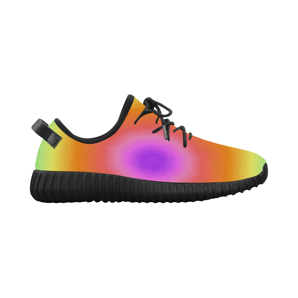 Green and Orange Tiedye Grus Women's Breathable Woven Running Shoes (Model 022)
