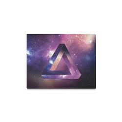 "Trendy Purple Space Design Canvas Print 14""x11"""