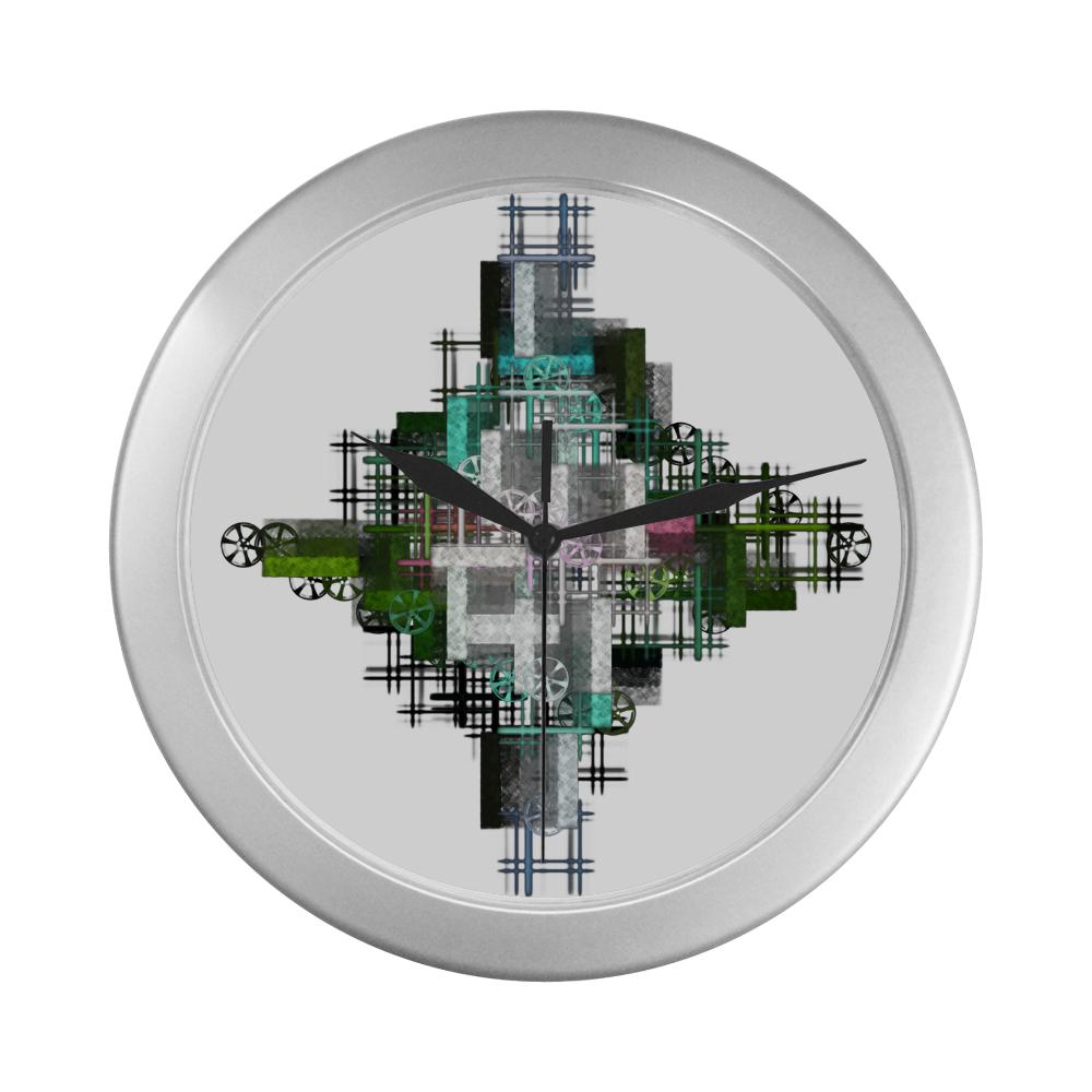 T-Technical - Jera Nour Silver Color Wall Clock