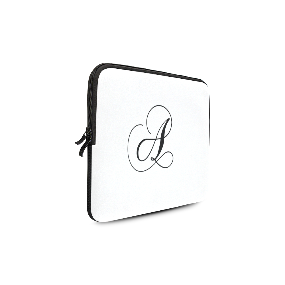 "Letter A Classic Black - Jera Nour Macbook Air 13"""