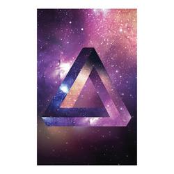 "Trendy Purple Space Design Poster 23""x36"""