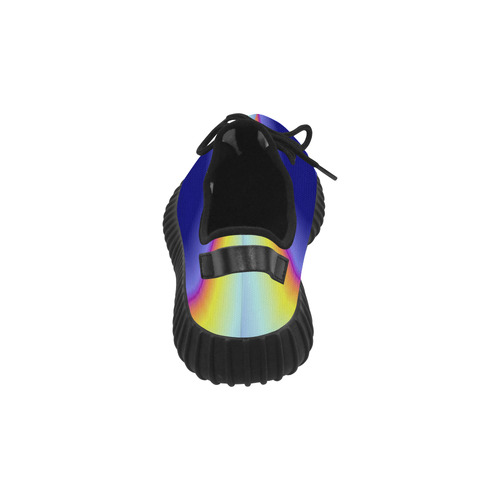 Blue Tiedye Grus Women's Breathable Woven Running Shoes (Model 022)