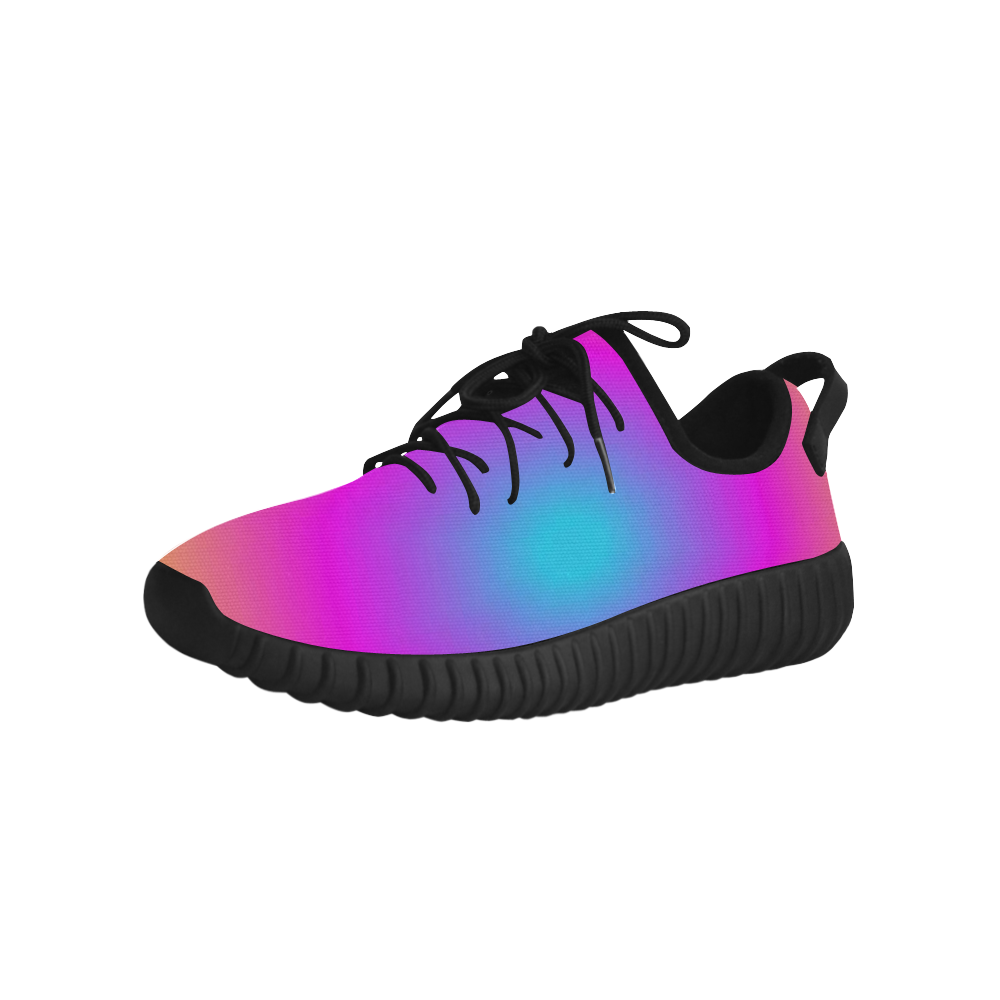Pink Tiedye Grus Women's Breathable Woven Running Shoes (Model 022)