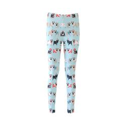 Christmas Holiday Winter Pugs (3) Cassandra Women's Leggings (Model L01)