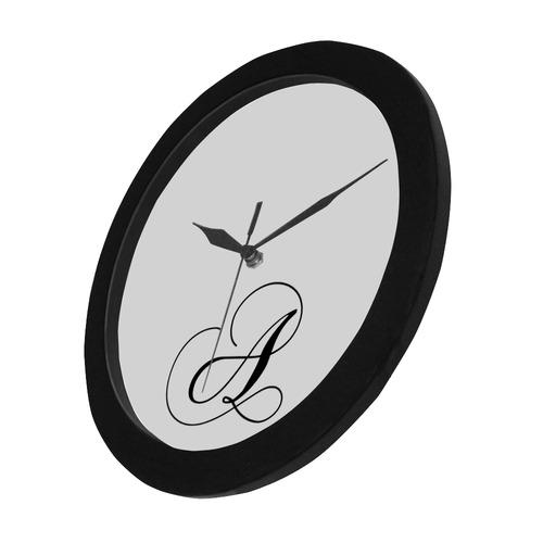 Letter A Classic Black - Jera Nour Circular Plastic Wall clock
