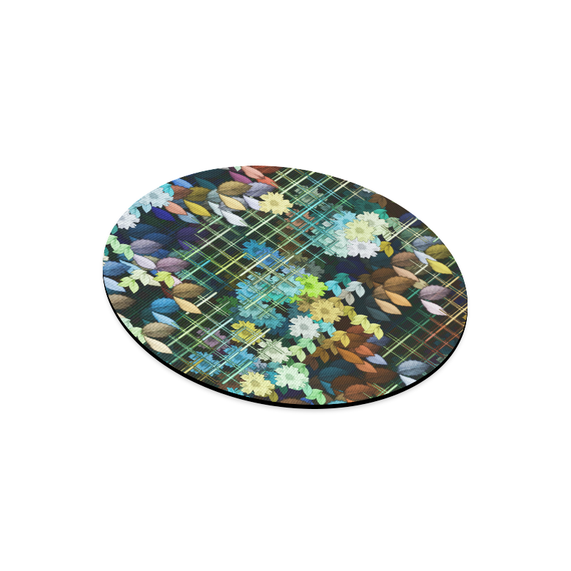 My Secret Garden #1 Night - Jera Nour Round Mousepad