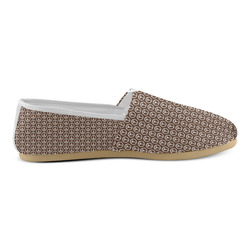 Peace Symbol Brown Unisex Casual Shoes (Model 004)