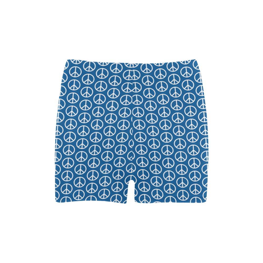 Peace Symbol Blue (3) Briseis Skinny Shorts (Model L04)