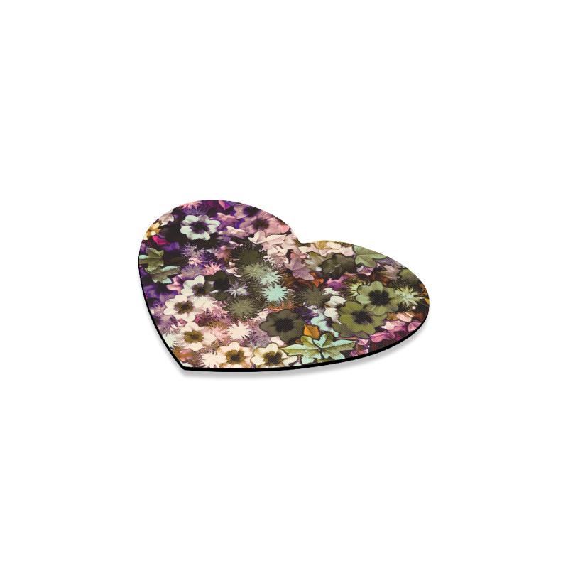 My Secret Garden #3 Night - Jera Nour Heart Coaster